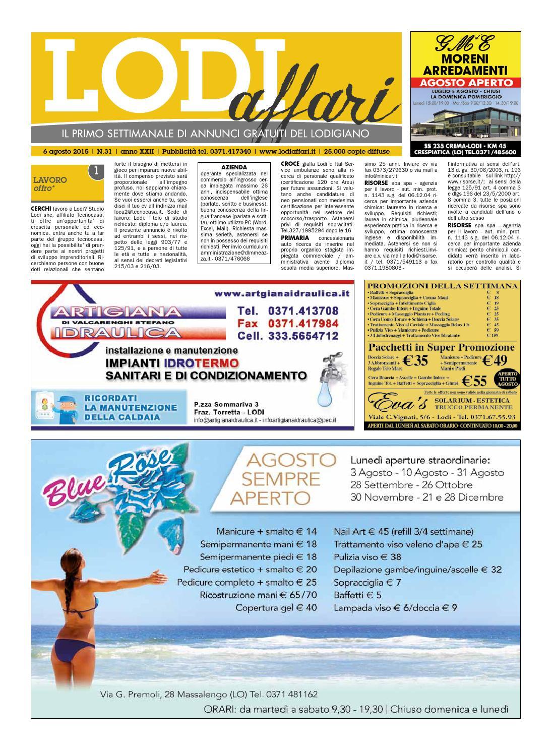 Lodi Affari 6 Agosto By Lodi Affari Issuu