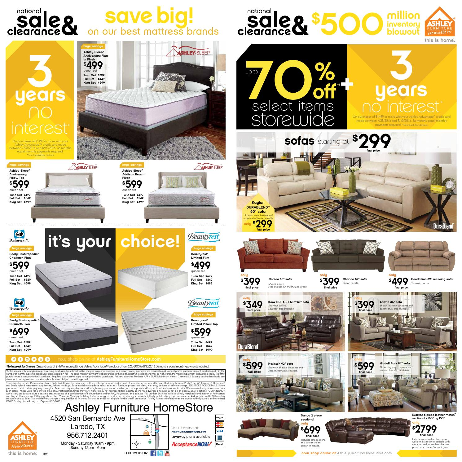 National Sale Clearance By Ashley Furniture Homestore Of Laredo