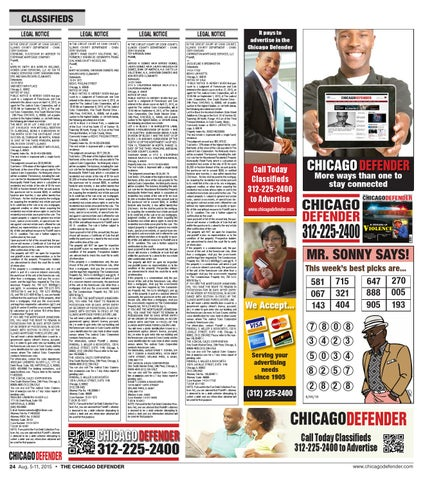 Chicago Defender 8 5 2015 Issue By Chidefender Issuu