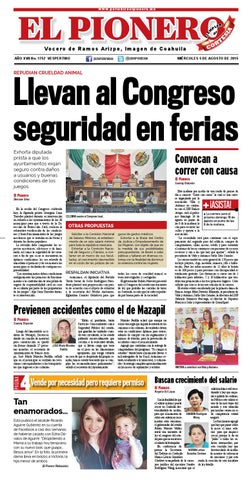 5 Agosto 2015 by Periódico El Pionero - issuu