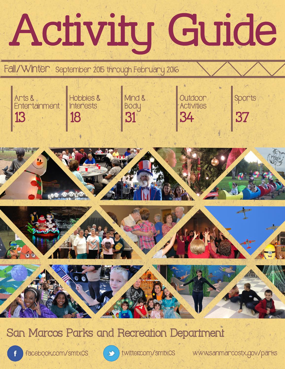 2015-2016 Fall/Winter Activity Guide by San Marcos Parks & Recreation  Department - issuu