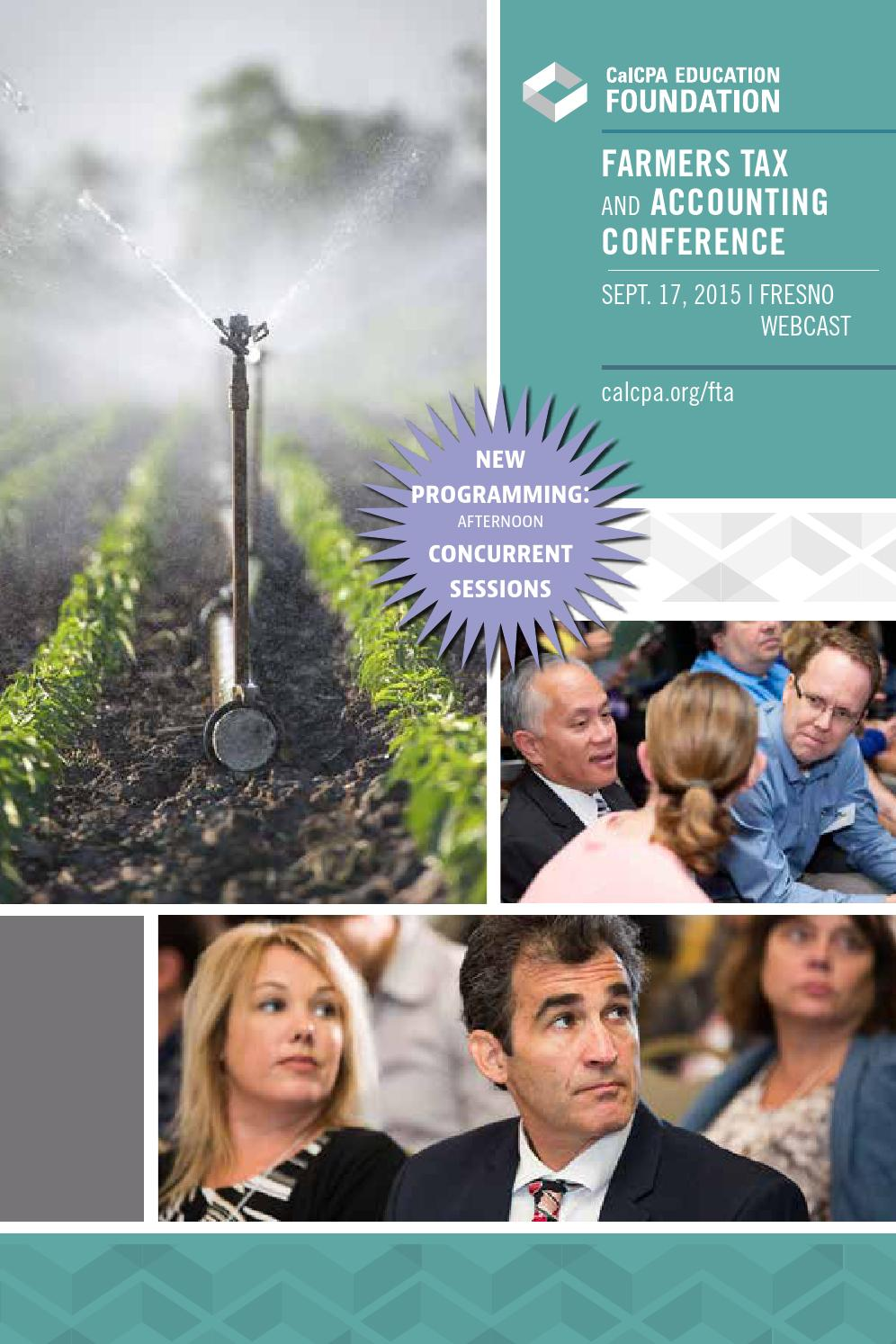 Farmers Tax and Accounting Conference by CalCPA and CalCPA