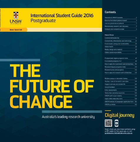 a5d4fd46101 International Student Guide 2016 – Postgraduate by UNSW Sydney - issuu