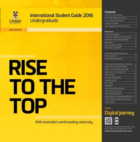 1c574730245 International Student Guide 2016 – Undergraduate by UNSW Sydney - issuu