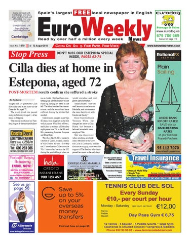 Euro Weekly News - Costa del Sol 6 - 12 August 2015 Issue 1570