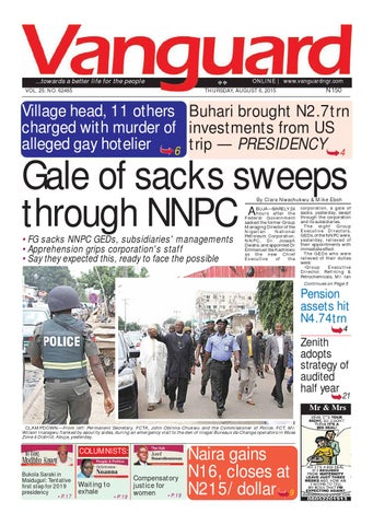Gale Of Sacks Sweeps Through NNPC By Vanguard Media Limited