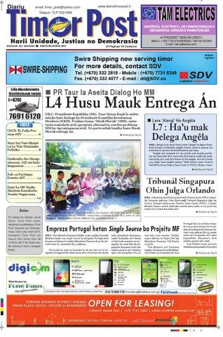 Edisaun Pdf 06082015 Compressed By Timor Post Issuu