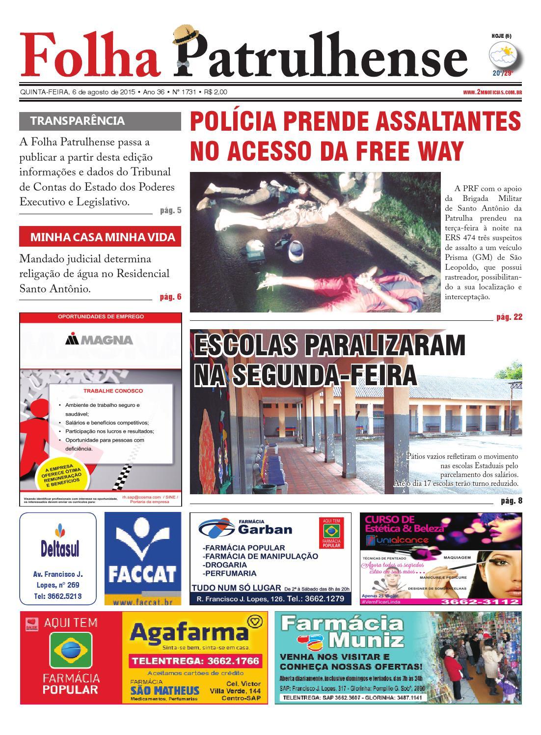 e5055aa5f Edicao06082015 by Jornal Folha Patrulhense - issuu