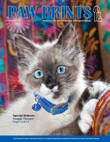 Paw Prints Summer 2015 By Humane Society Of Broward County Issuu