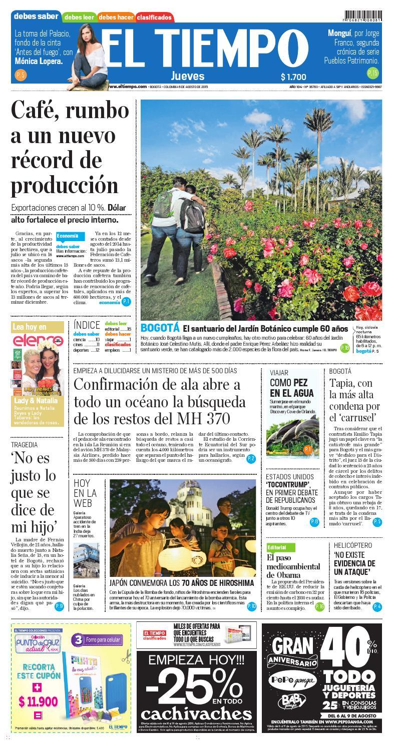 El Tiempo 06/08/15 by Andres A. - issuu
