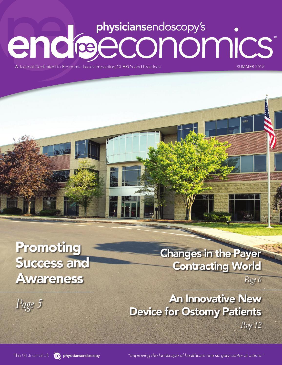 Endoscopy Suite: EndoEconomics Summer 2015 By Physicians Endoscopy, LLC