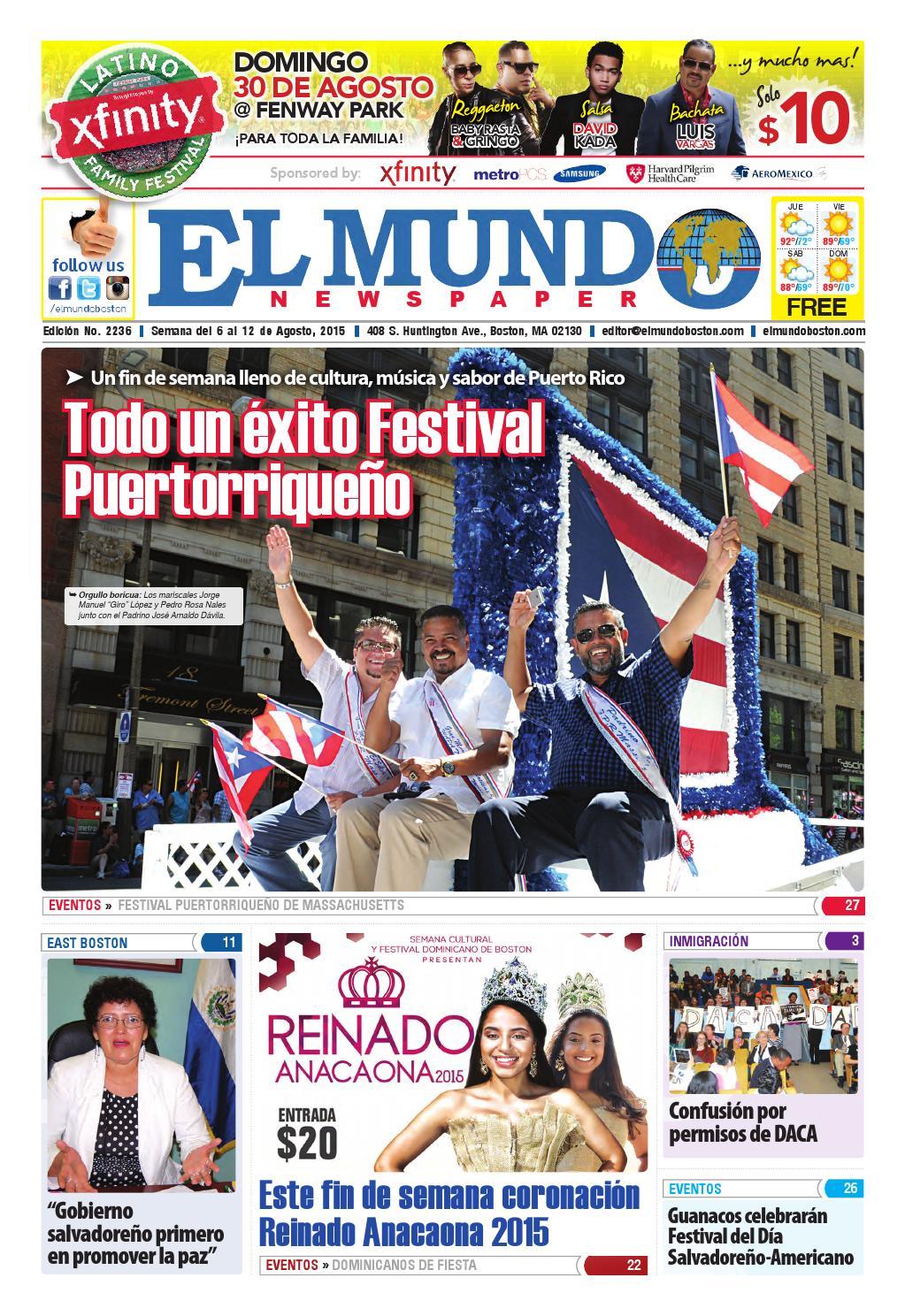 El Mundo Newspaper | No. 2236 | 08/06/15 by El Mundo Boston ...