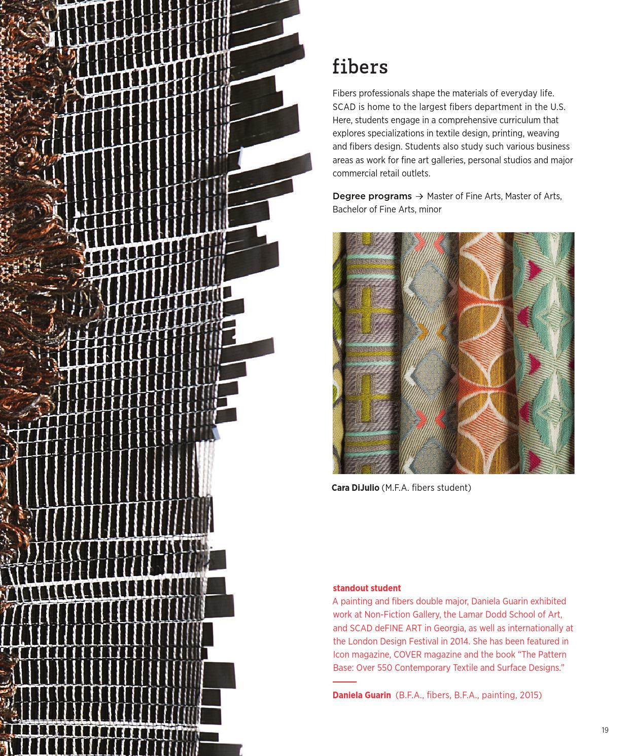 SCAD School of Design brochure 2015 by SCAD - issuu