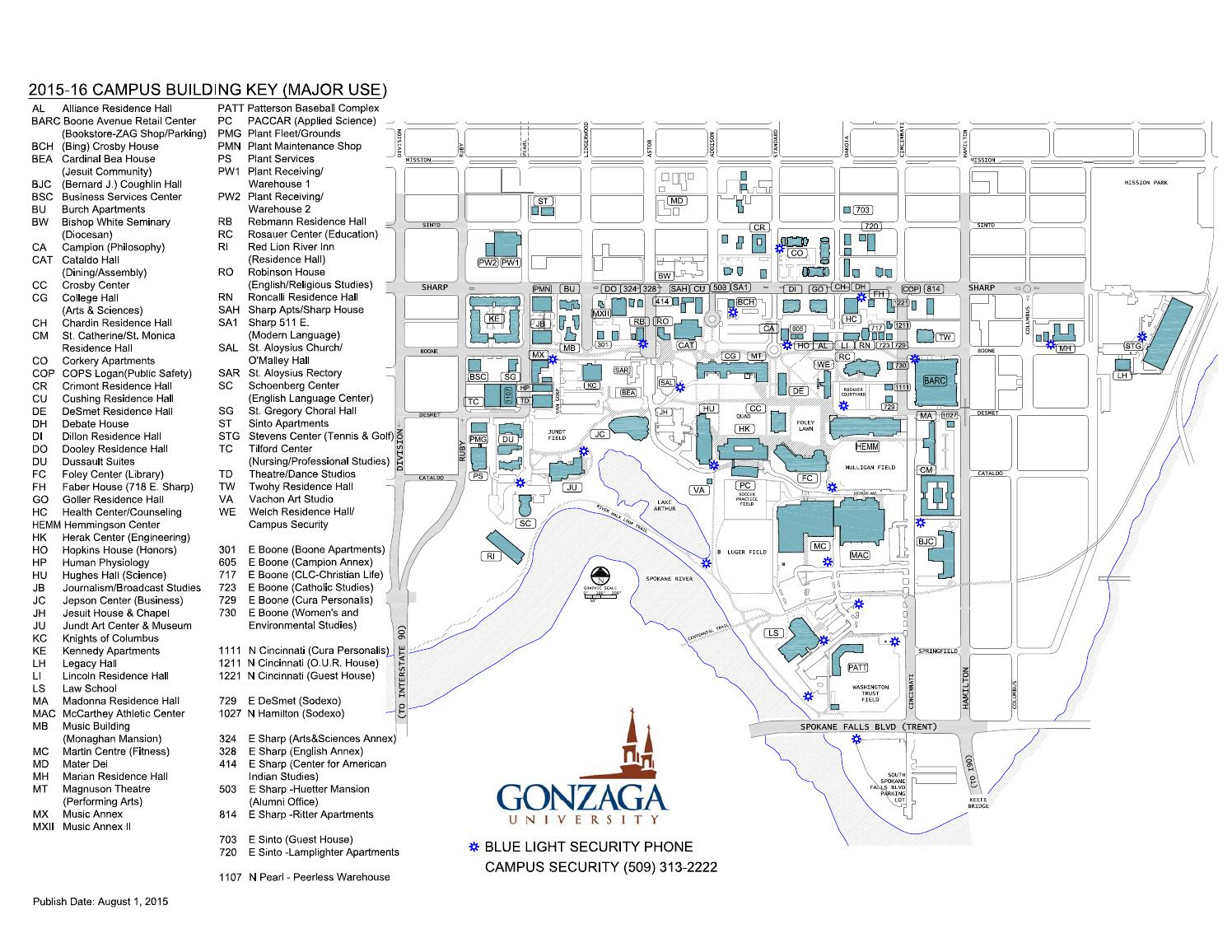 Gonzaga Campus Map 2015 16 By Gonzaga University Issuu