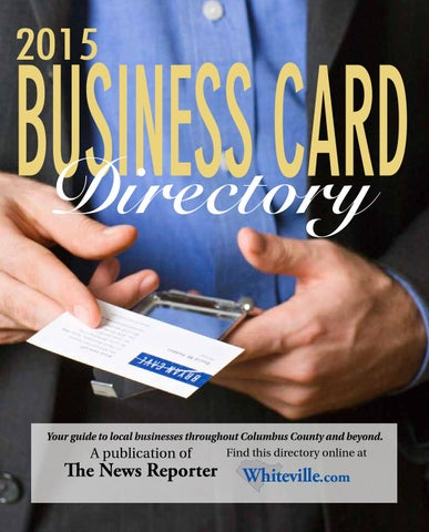 Business Card Directory 2015 By The News Reporter Issuu