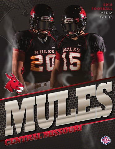 a87844a1cf9 2015 Central Missouri Mules Football Media Guide by UCM Athletics ...