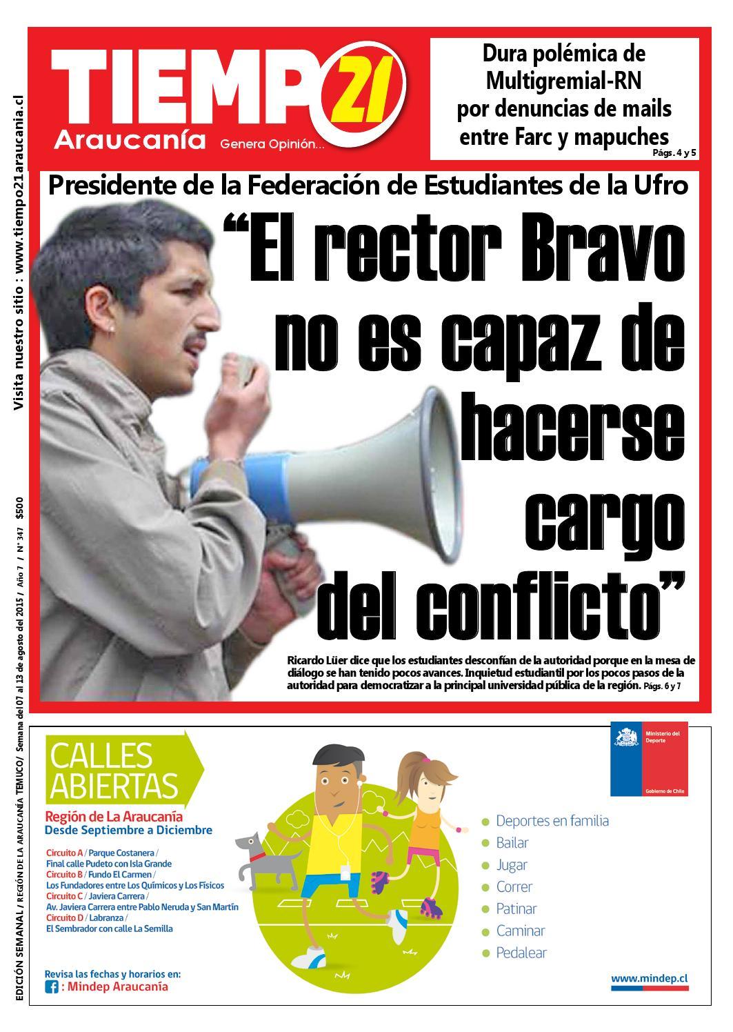 Edici N 347 Presidente Feufro El Rector Bravo No Es Capaz De