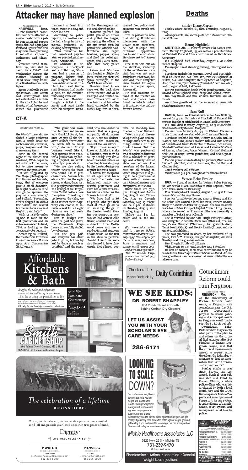 080715 Daily Corinthian E Edition By Daily Corinthian Issuu
