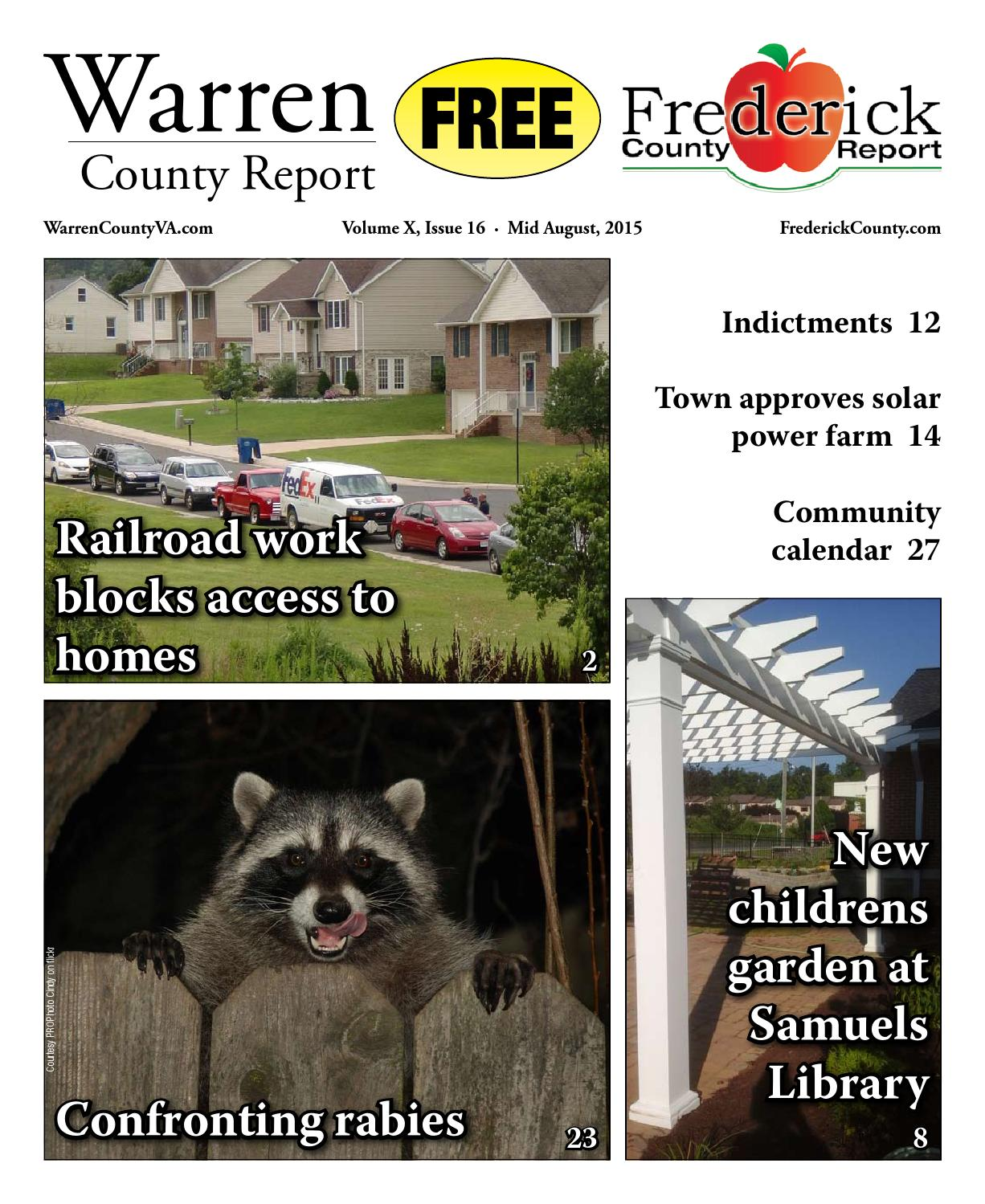 936b8cdad62 Mid August 2015 Warren and Frederick County Report by Warren Frederick  County Report Newspaper - issuu