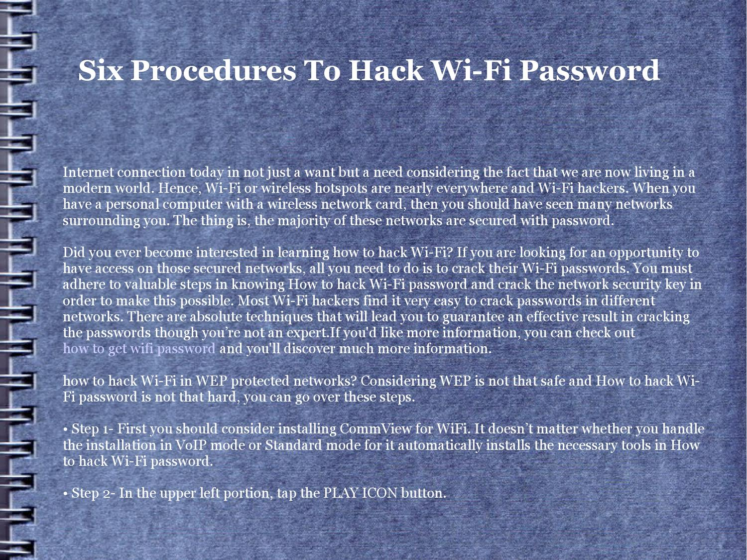 How to hack wifi password by itjyvyhjpv17 - issuu
