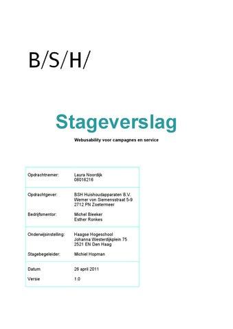 Stageverslag by Laura Noordijk   issuu