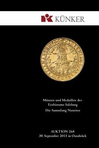 Künker Auktion 268 Münzen Und Medaillen Des Erzbistums Salzburg