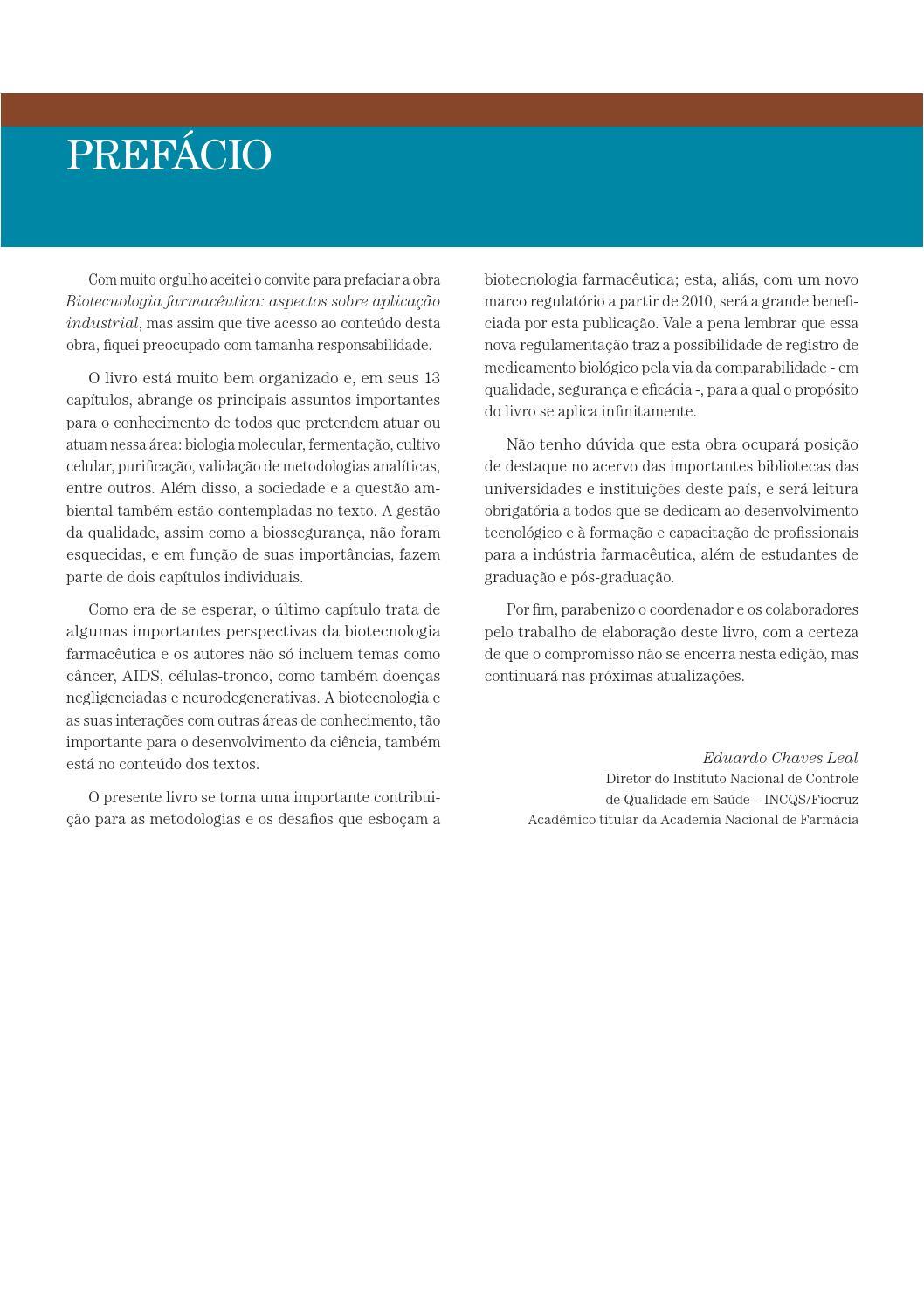 8d45e9c5986 Biotecnologia Farmacêutica by Editora Blucher - issuu