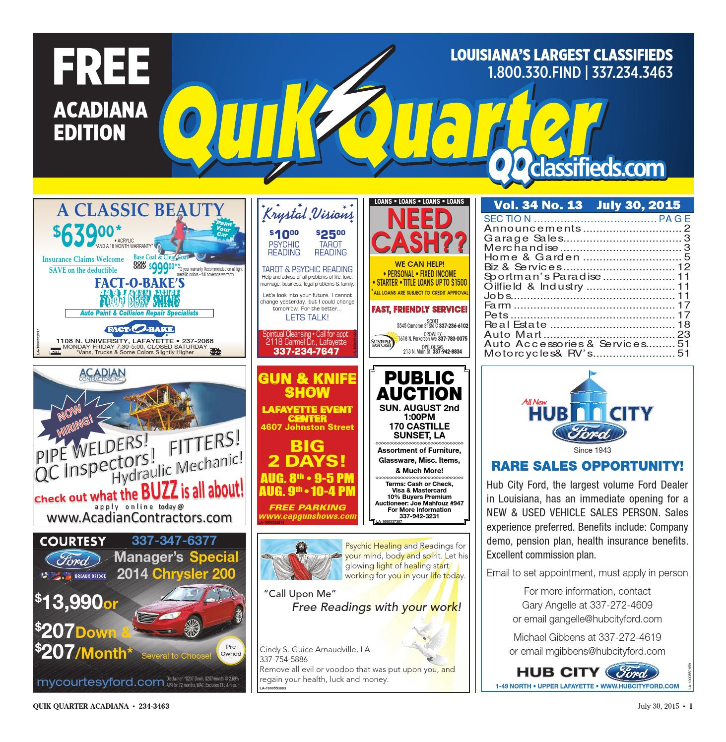 Quik Quarter Acadiana by Part of the USA TODAY NETWORK issuu