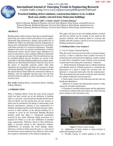 Practical building defect solutions