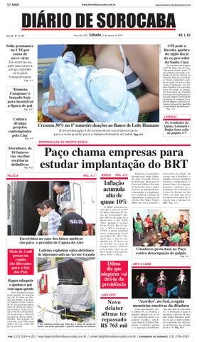 4caa088805282 Edição de 8 de agosto de 2015 by DIÁRIO DE SOROCABA - issuu