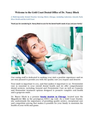 Family Dentist in Chicago by Nancy O Block, DDS - issuu