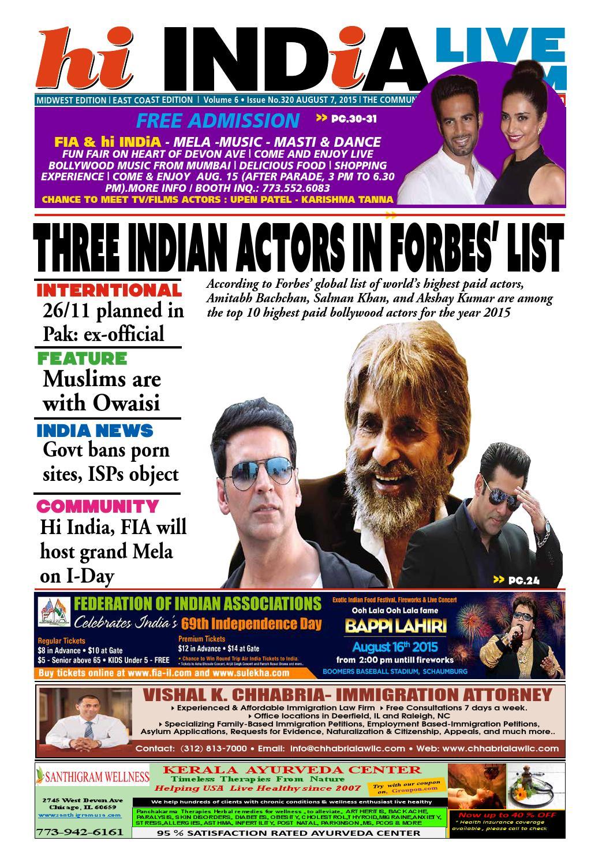 hi INDiA - August 14, 2015 by hi INDiA Weekly - issuu