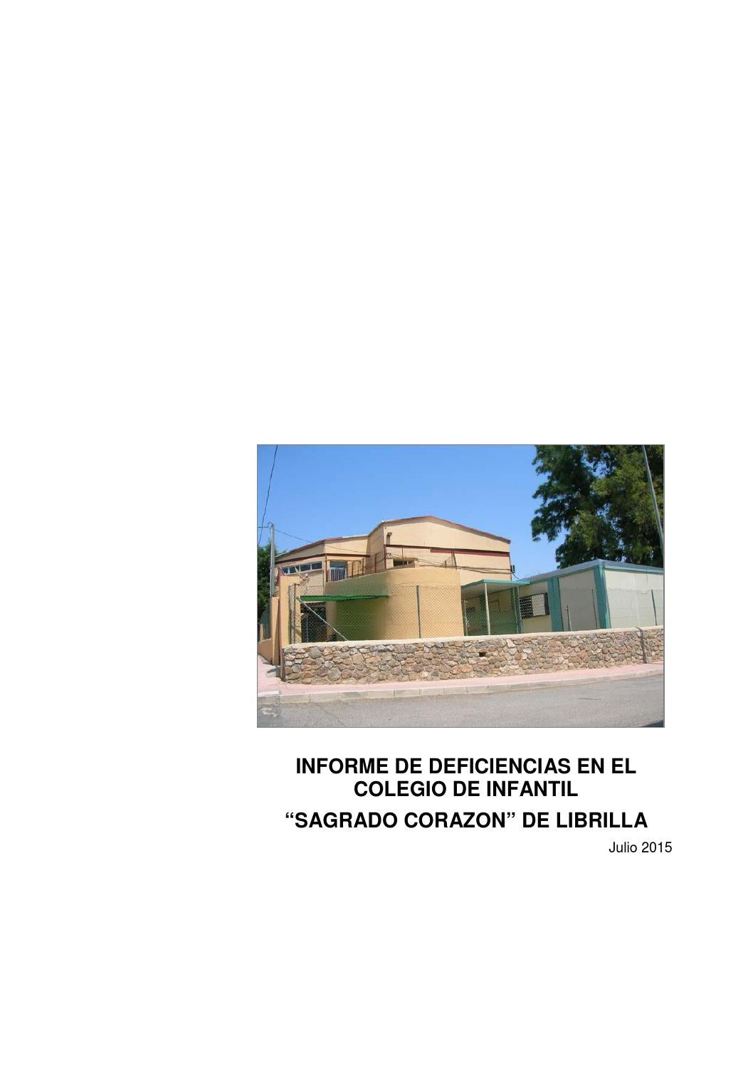 Informe deficiencias infantil by ayuntamiento de librilla for Casetas metalicas usadas