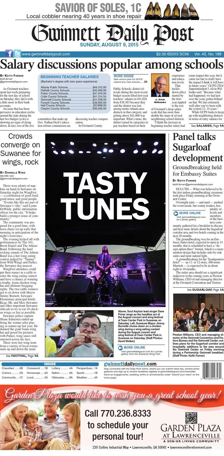 Gwinnett Daily Post August 9 2015 By Gwinnett Daily Post Issuu