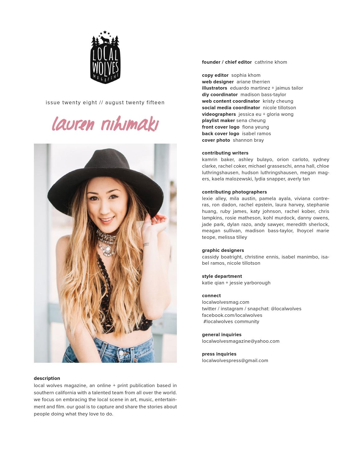 LOCAL WOLVES // ISSUE 28 - LAURDIY by Local Wolves - issuu