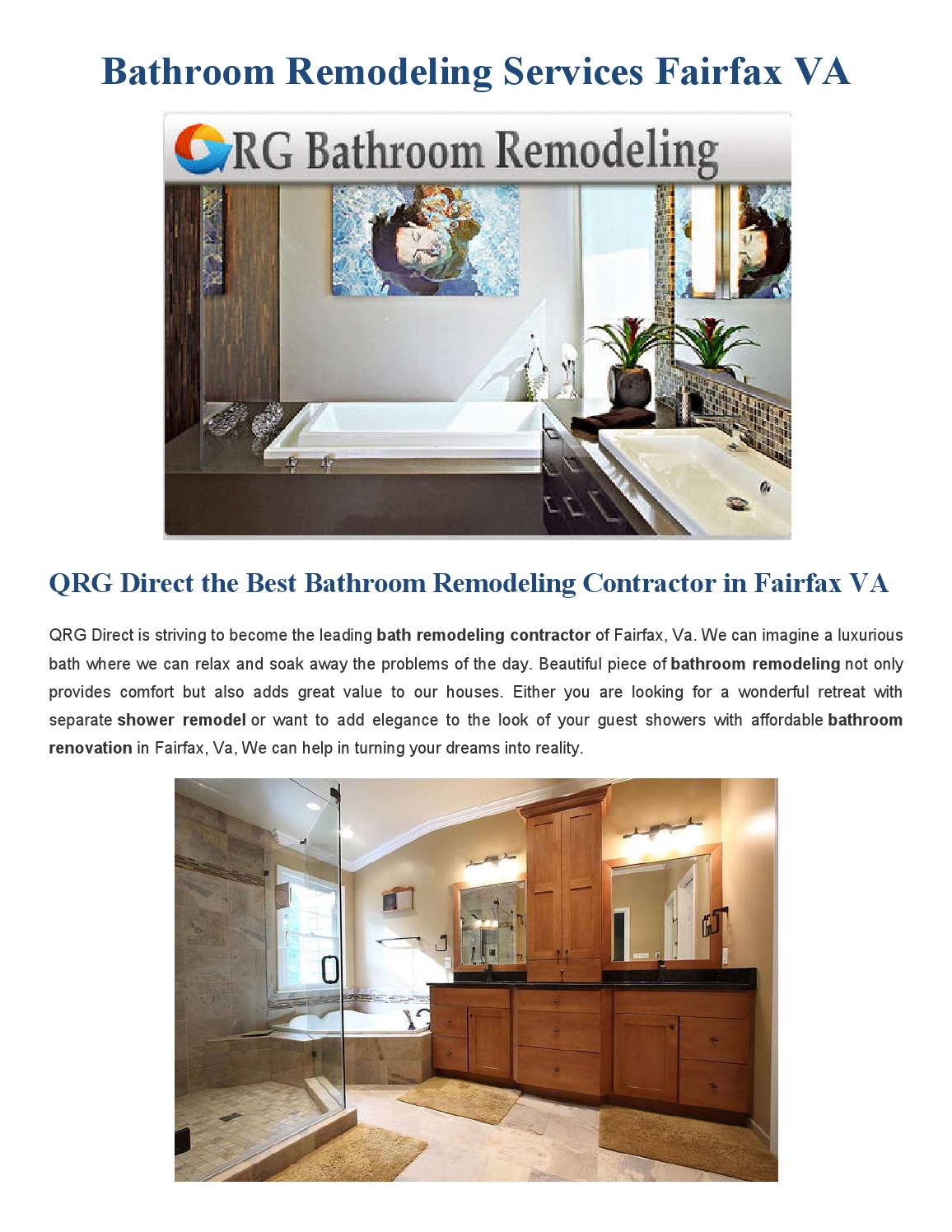 Bathroom Remodeling Fairfax Va By QRG Business Services
