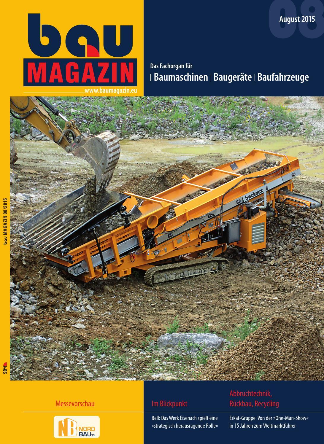 bauMAGAZIN August 2015 by SBM Verlag GmbH - issuu