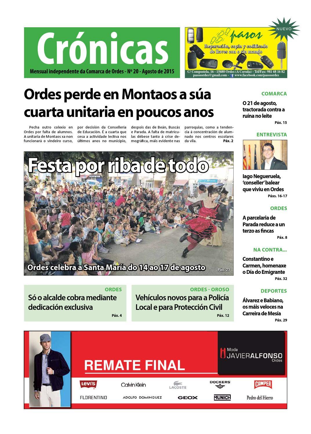 Cronicas Comarcadeordes N20 Agosto2015 By Cr Nicas Peri Dico  # Muebles Visantona
