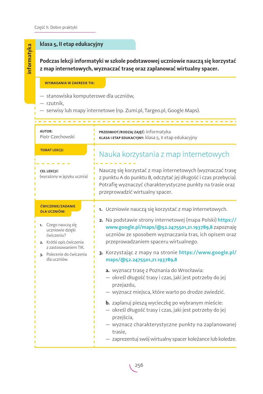 Technologie Informacyjno Komunikacyjne Na Lekcjach Przykladowe