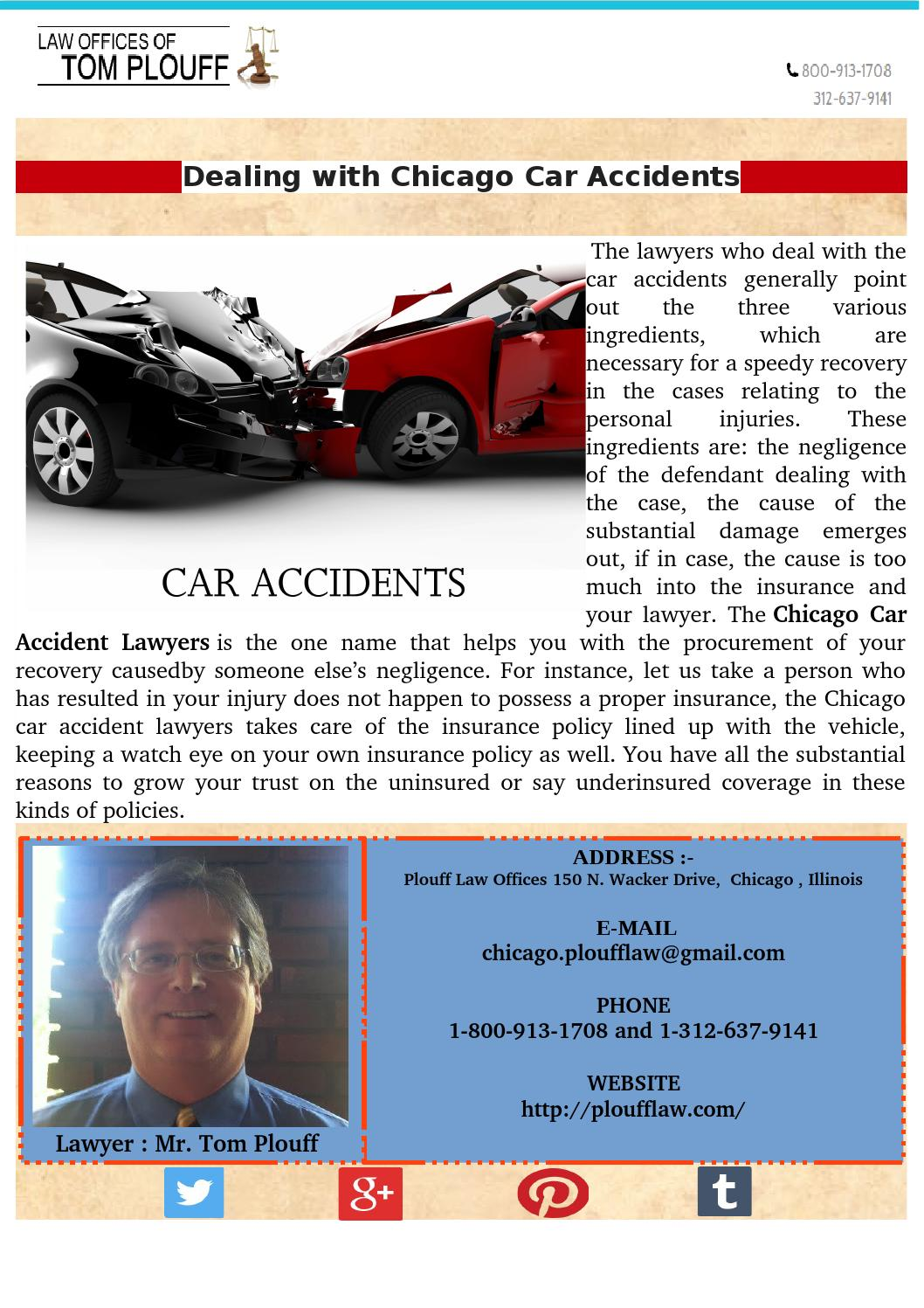 Chicago Car Accident Lawyer By Tom Plouff