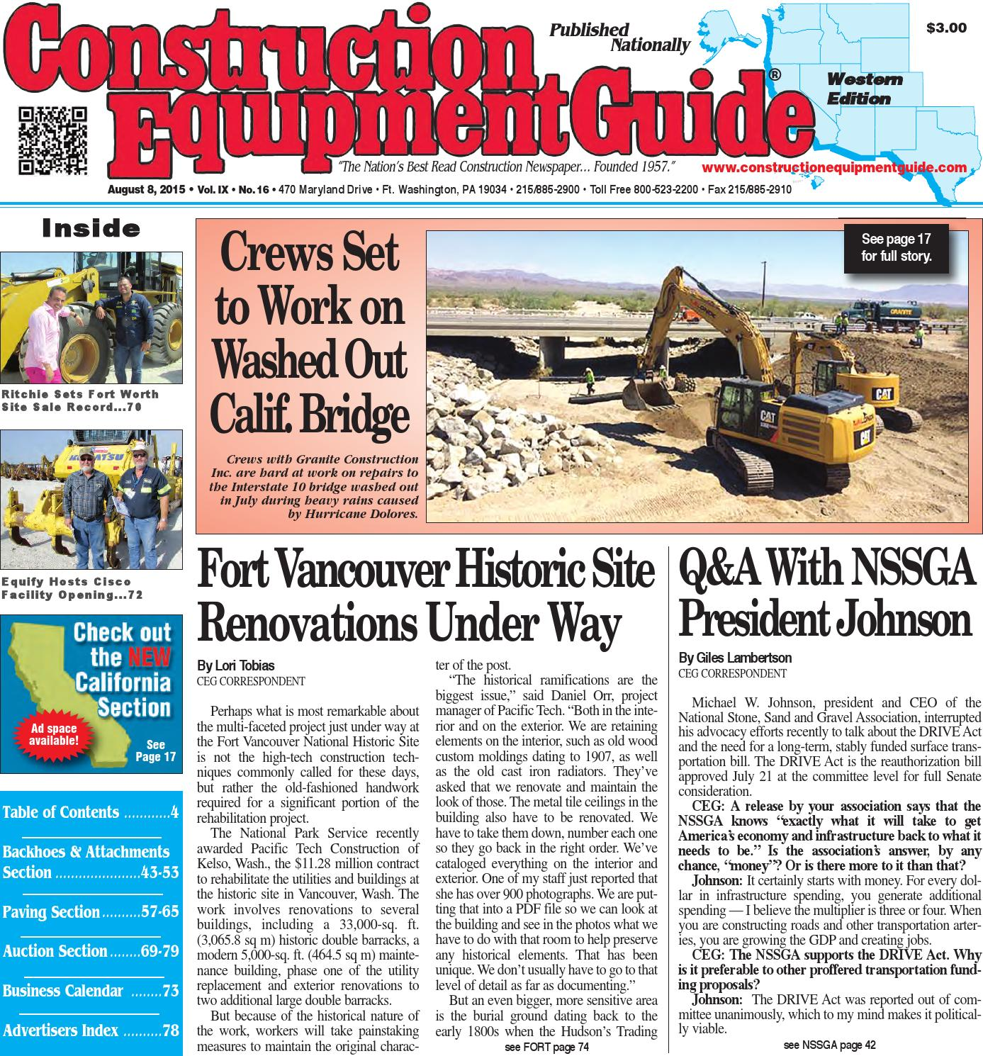 West 16 2015 By Construction Equipment Guide Issuu Wiring Diagram Kubota B26 Tlb