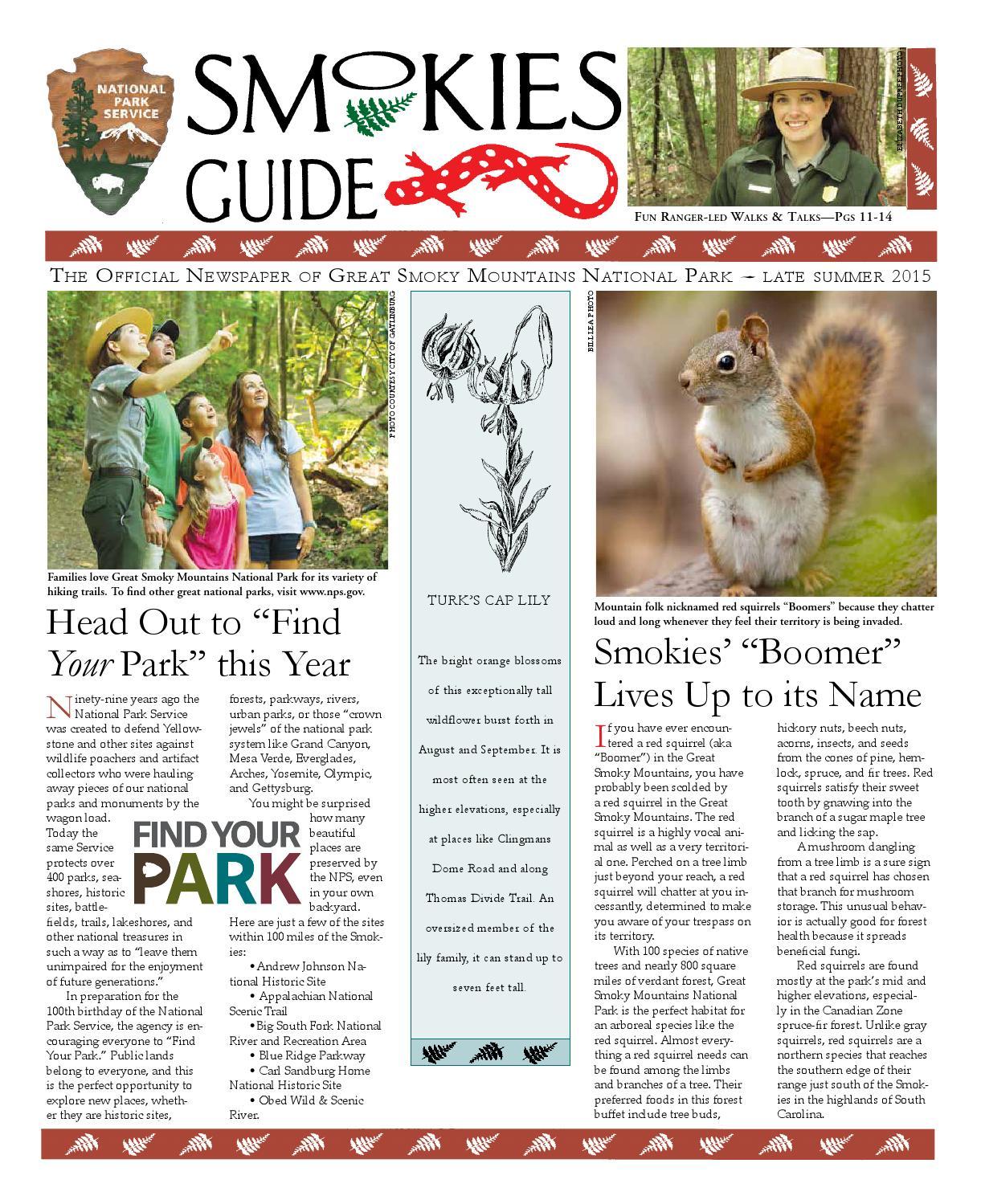 Late Summer 2015 Smokies Guide Newspaper by GSMA - issuu