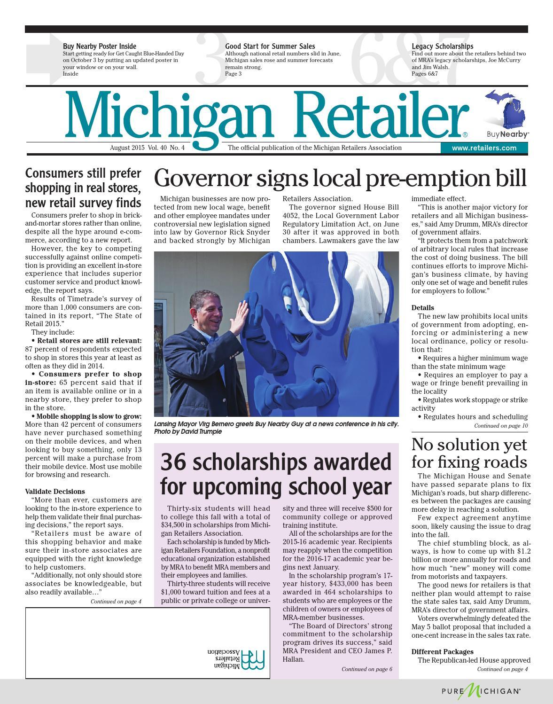 August 15 Michigan Retailer by Michigan Retailers Association - issuu