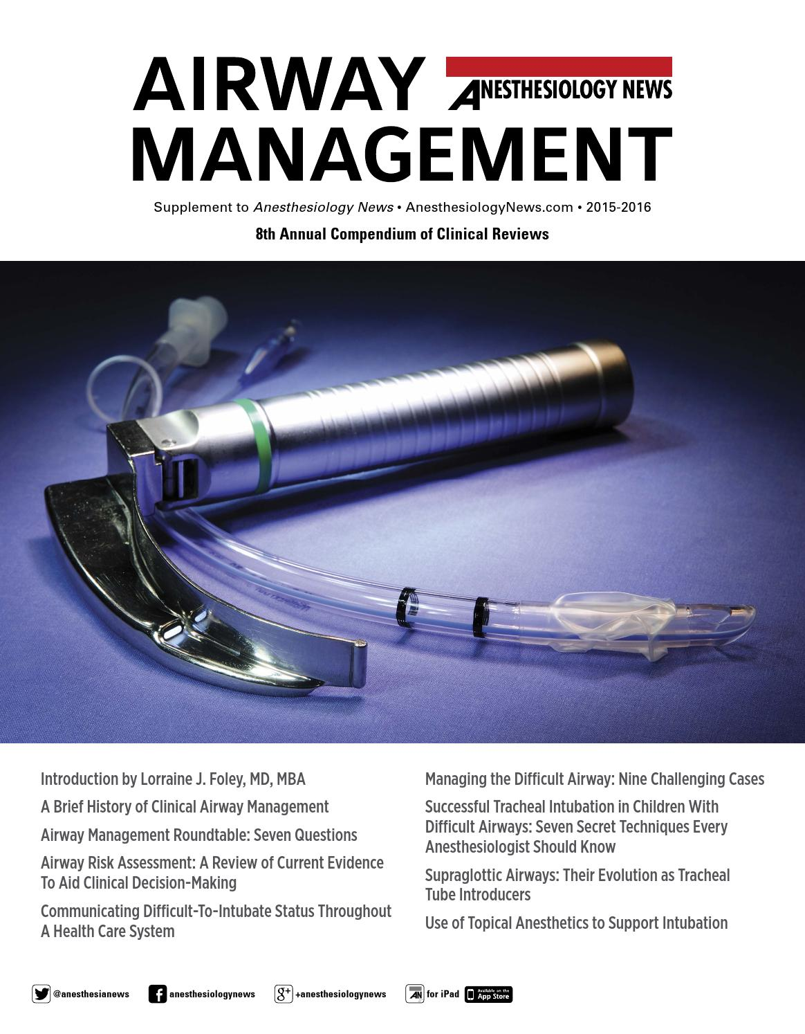 An Airway Management August 2015 By Mcmahon Group Issuu