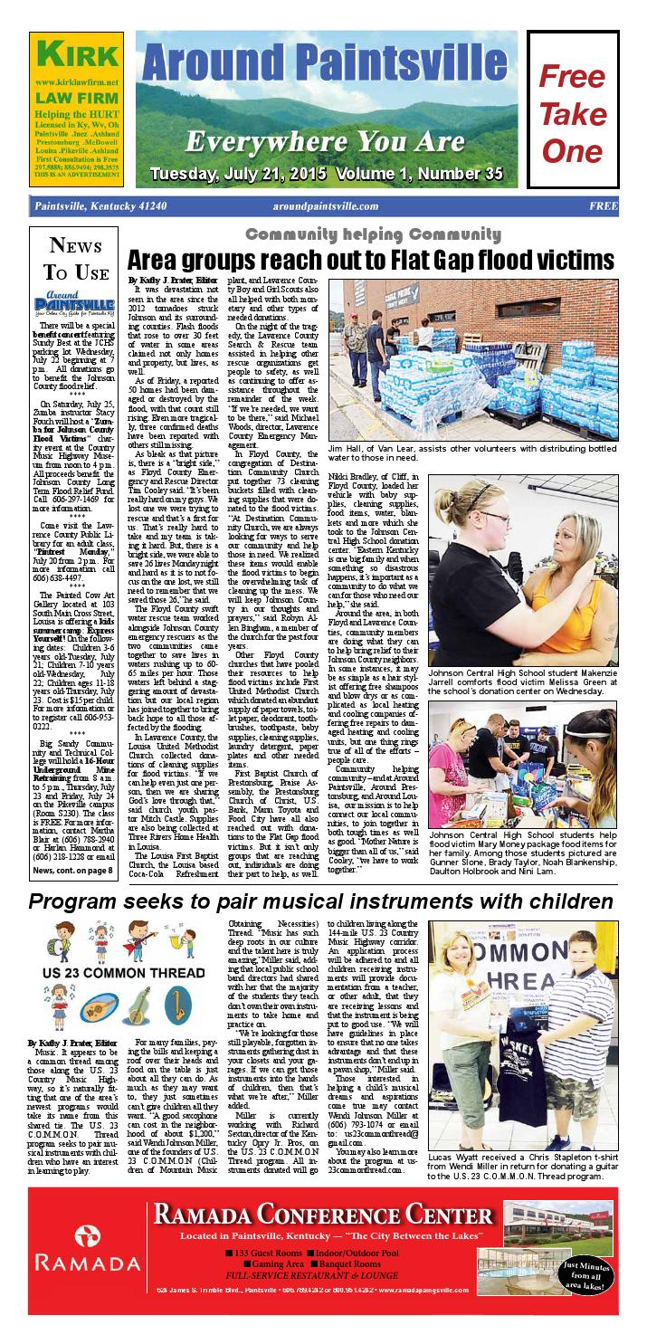 July 21 2015 Edition By Around Paintsville