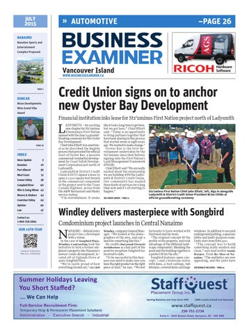 17c5c53556 Business Examiner Vancouver Island - July 2015 by Business Examiner ...
