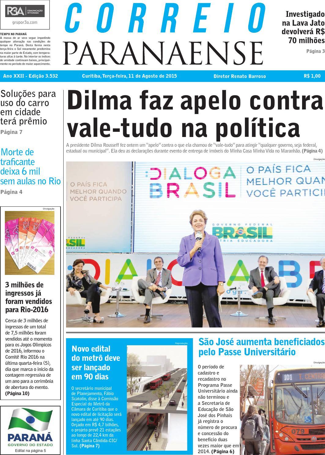 Correio Parananese by Editora Correio Paranaense - issuu 2e6906b638a22