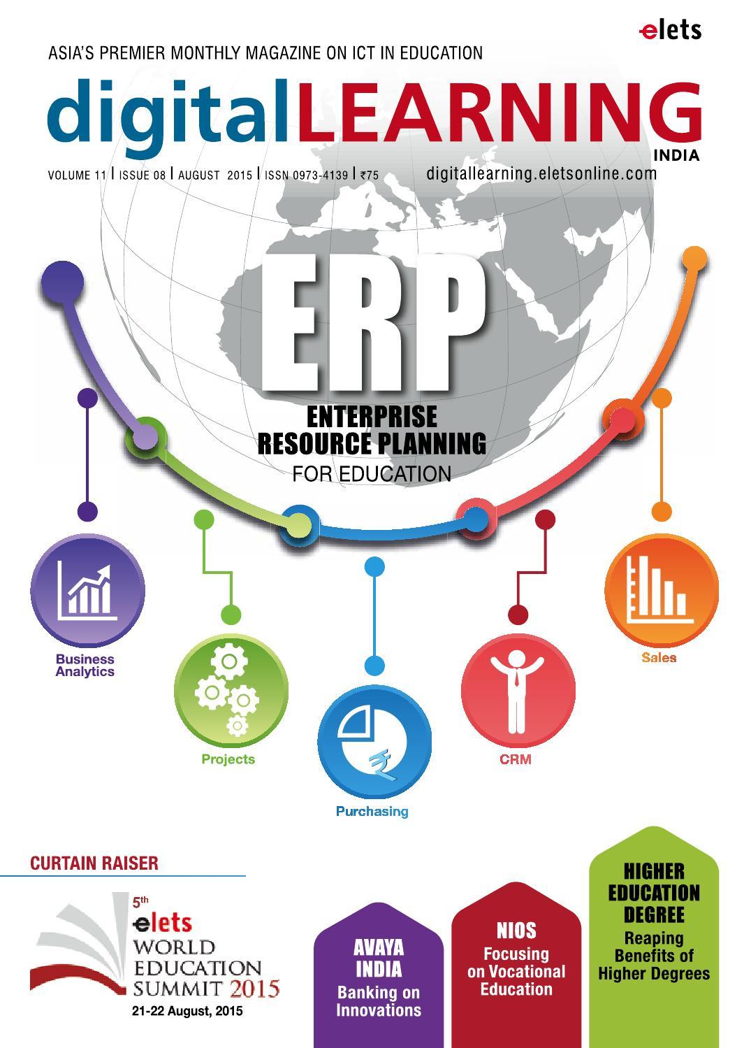 digitalLEARNING August 2015 by digital LEARNING Magazine - Elets