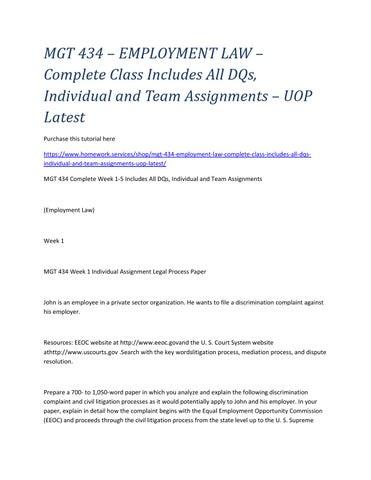 discrimination complaint and civil litigation process 1 if an employee wants to file a discrimination complaint against an employer what is the process 2 explain the discrimination complaint and civil litigation.