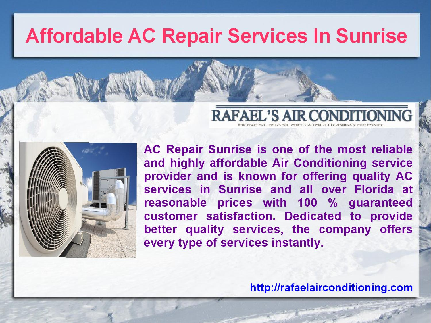 Affordable Ac Repair Services In Sunrise By Ac Repair Issuu